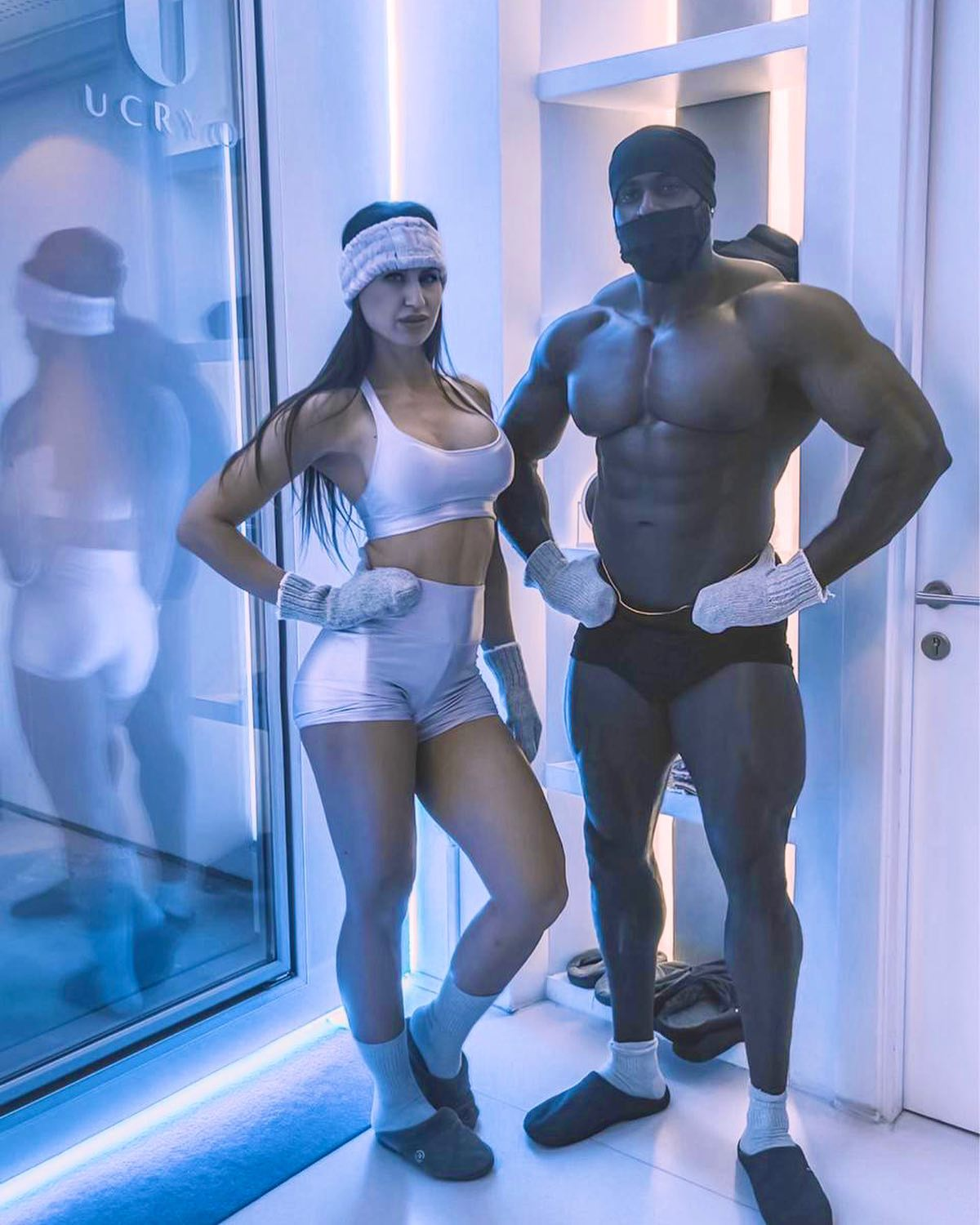 couple doing cryotherapy